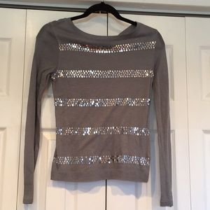Long sleeve sparkle shirt